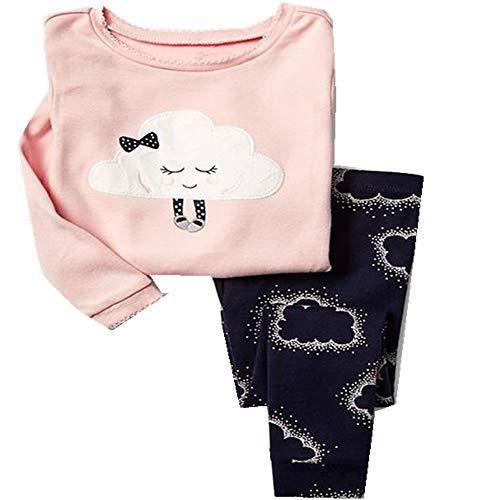 Conjuntos de Pijamas para niños Conjuntos de Ropa de Dormir de Dibujos Animados para niñas Conjuntos de Ropa de Dormir de Manga Larga para niños