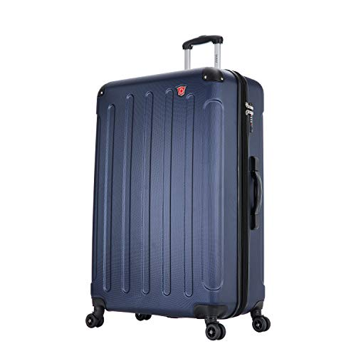 DUKAP Luggage Intely Collection 32' inch BLUE Hardside Spinner with Integrated Weight Scale - Suitcases with Wheels