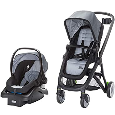 Safety 1st Riva 6 in 1 Flex Modular Lightweight Baby Travel System, Gray Canyon