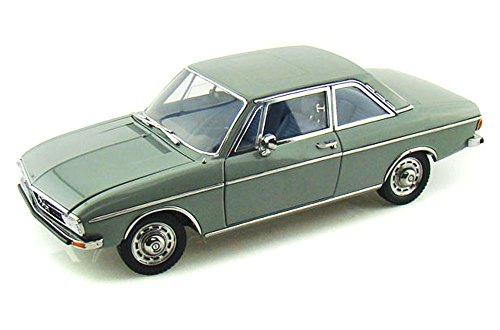 Audi 100 (C1), 2-türig, graugrün, 1972, Modellauto, Fertigmodell, Signature 1:18