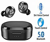 Bluetooth 5.0 Deep Bass Wireless Headphones, Smart Touch Control TWS Earbuds with Dual