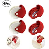 Pastry Wheel Cutter - WENTS 4PCS Pastry Wheel Decorator and Cutter Set Plastic Wheel Roller Kitchen Baking Tool for Beautiful Pie Crust or Ravioli Pasta Pizza Pastry Lattice Decoration