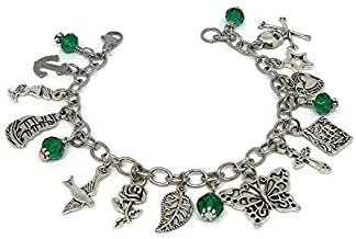 Harry Styles Tattoo inspired Charm Bracelet with Stainless Steel Chain - One direction themed Jewelry - 1D Gift