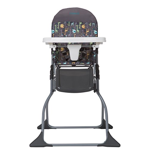 Cosco Simple Fold High Chair, Sets Up in Seconds, Easy to Clean and Pack Away, Zuri, Zuri