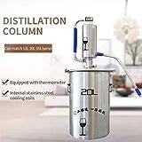 Xin Hai Yuan Torre De Destilación Puede Igualar 12L 20L 35L Barril Doméstica Pequeña Máquina De Destilación Torre De Elaboración De La Cerveza,12L
