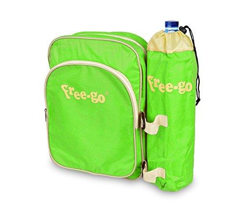 2502T koeltas FREE-GO met flessenhouder en voorvak - groen