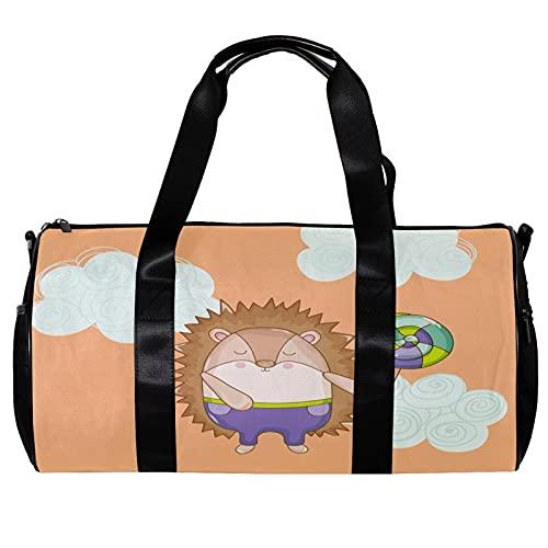 Bolsa de viaje para mujeres y hombres, divertida, erizo es un niño, deportes, gimnasio, fin de semana, bolsa de viaje al aire libre, bolsa de equipaje