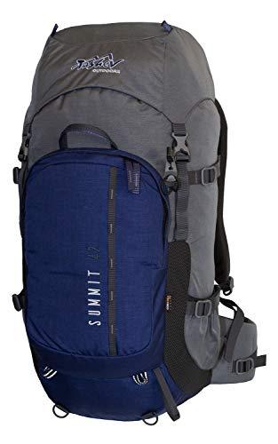 Tashev Sac à Dos de randonnée, de Trekking, de Camping, pour activités en Plein air Daypack Summit 42 (Bleu foncé-Gris)