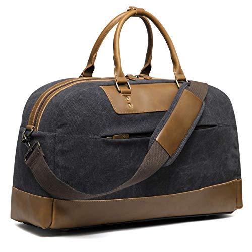 Bolsa de Viaje para Hombre, Kasgo Impermeable Vintage Lona