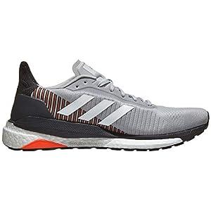 adidas Men's SolarGlide ST 19 Running Shoe - Color: Grey/White/Solar Orange (Regular Width) - Size: 14