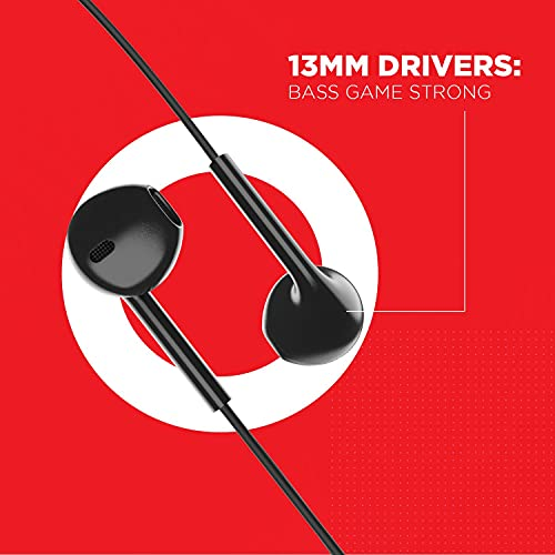 boAt Bassheads 105 in-Ear Wired Headset(Black)