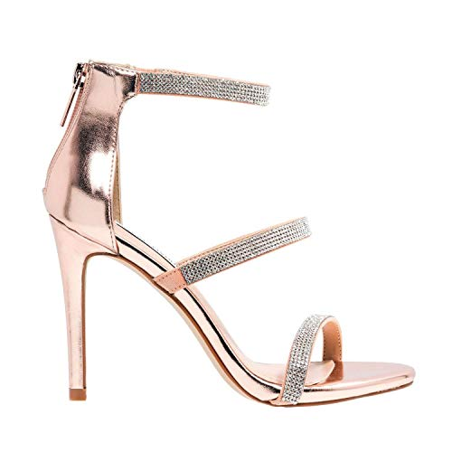 Steve Madden - High Heel Smokin Rose Gold Sandals - SMSSMOKINRSGLD - 38.5