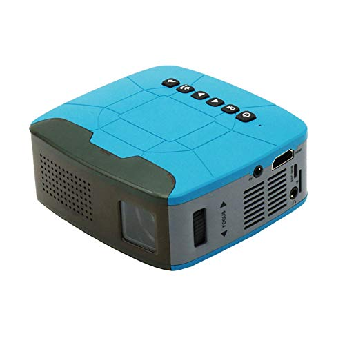 WANGLX ST U20 draagbare mini micro beamer thuis HD kinderen projector multimedia film speler home bioscoop entertainment compatibel HDMI / USB / AV/TF kaart, Blue