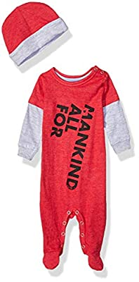 7 For All Mankind Baby Boys 2 Piece Set, Deep Flame, 6-9 Months