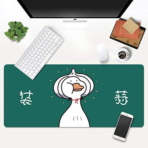 LJUKO Alfombrilla Raton Pato De Ajo De Dibujos Animados 1000x500mm Alfombrilla de ratón, de gran tamaño con base antideslizante, exquisita y duradera, apta para juegos, ordenadores, oficinas y escrito