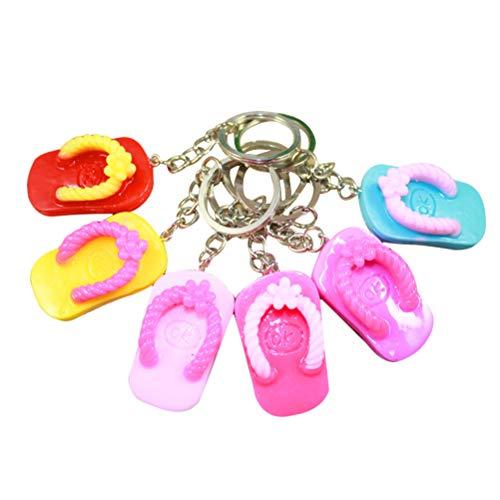 Toyvian 24 stücke Sandale schlüsselanhänger Luau flip Flop Pantoffel schlüsselanhänger Sommer Hawaiian Luau Beach Party gefälligkeiten