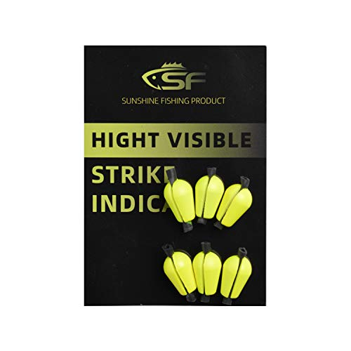 SF Fly Fishing Strike Indicator Foam Material Teardrop Floating Bobber Indicators # Fluorescent Yellow S