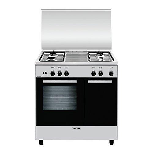 Glem AR854GI Piano cottura Gas A Titanio cucina