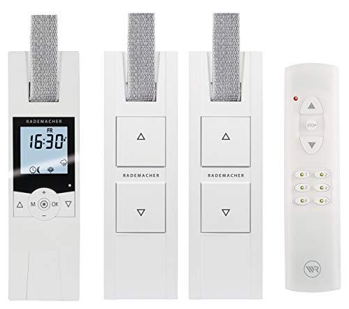 RADEMACHER elektrische Gurtwickler Starterset für 3 Rolläden. Smarte Rolladensteuerung mit Rolladen Gurtwickler (230V) und Handsender.