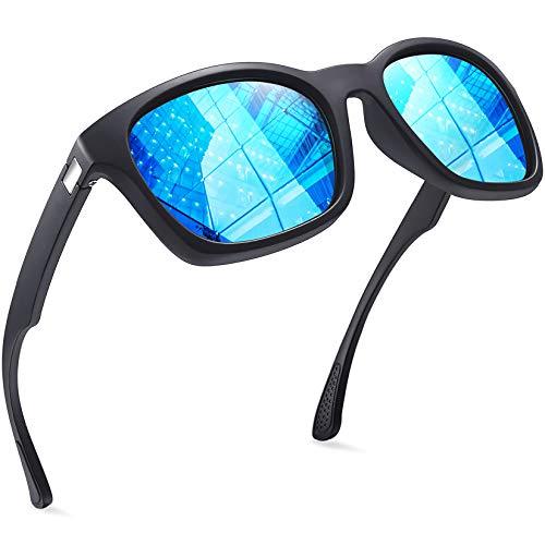 Joopin Gafas de Sol Hombre y Mujer Polarizadas Clásicas Retro Vintage con Protección UV Gafas Cuadradas para Conducir y Deportes al Aire Libre Azul
