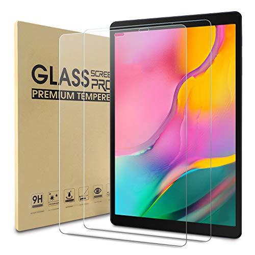 WDundCD 2 Pack Panzerglas Schutzfolie kompatibel mit Samsung Galaxy Tab A 10.1