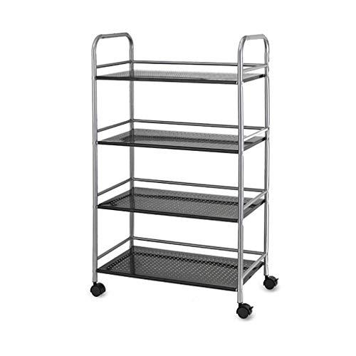 DSENIW QIDOFAN - Carrito de almacenamiento de 4 pisos (metal, 100 x 60 x 45 cm)