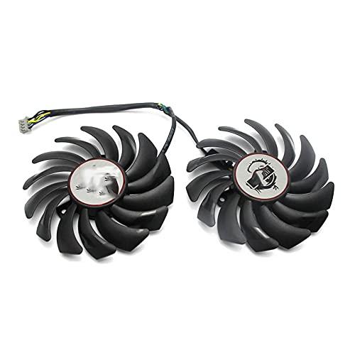 2 unids/Lote 4pin PLD09210S12HH GTX1050 TI Fan de Cooler para GeForce MSI GTX 1050 1050Ti Gaming X Tarjeta de Video Ventilador