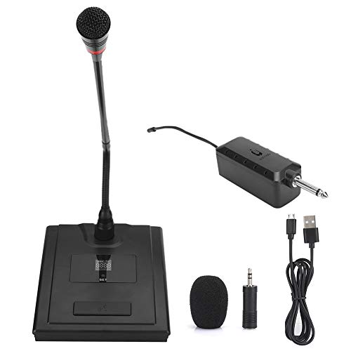 Junluck PC Conference Microphone - Wireless Omnidirectional Desktop Mic - USB Multifunction Gooseneck Microphone for Conference, Network Broadcast, Recording, etc - Plug & Play