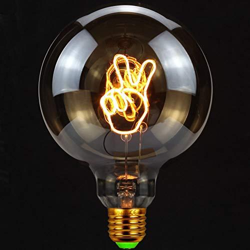 TIANFAN Vintage Gloeilampen Led-lamp 4 Watt Dimbaar gebaar Ja Letter Decoratieve gloeilampen 220 / 240V E27 Tafellamp Tafellamp
