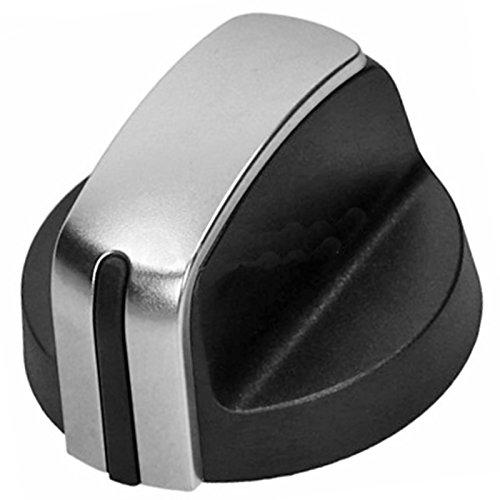 Spares2go gasvlamschakelaar knop voor Hotpoint-Ariston kookplaat Oven (zilver/zwart)