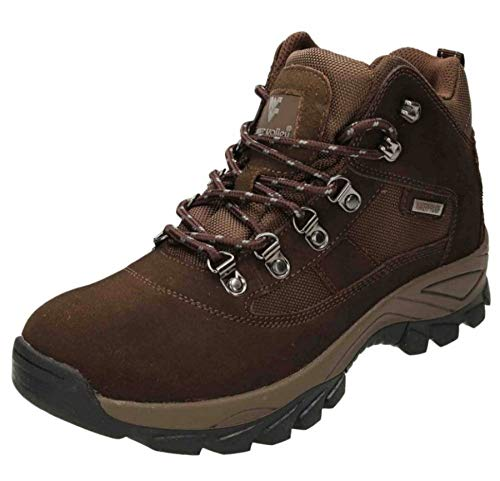 Pretty T Things Mens Lightweight Casual Walking and Hiking Boots Water Proof Memory Foam Ankle Boots Warm Outdoor Walking Shoes UK Size 7 12 Brown Suede Numeric9