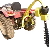Titan 30HP HD Steel Fence Posthole Digger w/6' Auger 3 Point Tractor Attachment