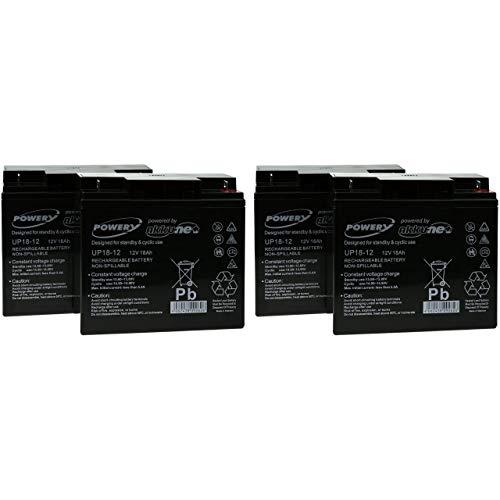 Powery Batería de Gel para SAI APC Smart-UPS XL 3000 Torre/Rack Convertible