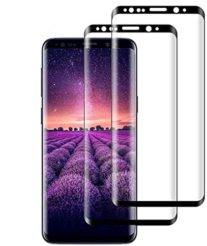 Verre Trempé pour Samsung S8 Plus-[2 Pièces][3D Couverture Complète ][ Dureté 9H][sans Bulles][Ultra Claire][Anti-Rayures][Anti-Huile]Film Protection Écran pour Samsung Galaxy S8 Plus