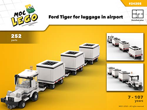 Ford tiger for luggage in airport (Instruction Only): MOC LEGO
