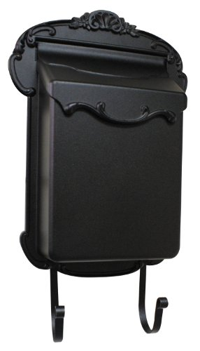 Special Lite Products SVV-1013-BLK Victoria Vertical Mailbox, Black, Full Size