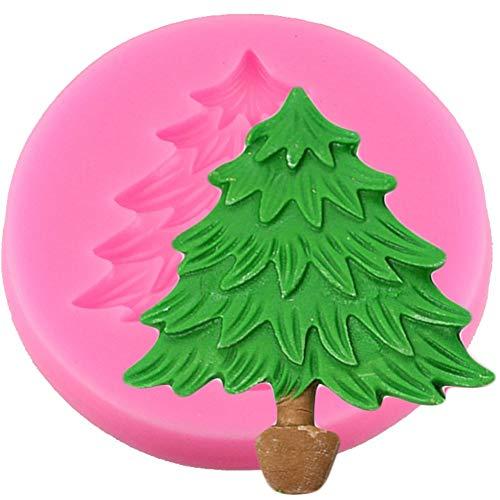 N/ A Pastel de Fondant Molde de Silicona Árbol de Navidad Forma de Hoja Galletas de Chocolate Molde DIY Cocina...