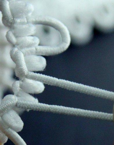 "Nakpunar 12"" White Elastic Button Loops - Adjacent"
