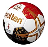 Molten Ballon de handball WM 2021 - Blanc/noir/rouge/or - Taille : 3