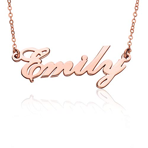 """In argento sterling 925–Collana con nome personalizzato stile """"Messtah Script Name Necklace–Custom Made personalizzato con nome"""