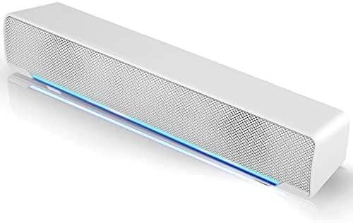 Lautsprecher, USB Mini Soundbar Tragbar Subwoofer Wired LED Musikbox mit Dual...