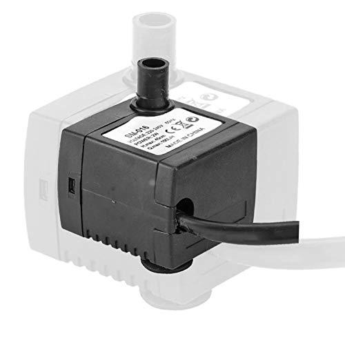Acogedor Pompa sommergibile 150L / H, Mini Pompa Acqua sommergibile, Pompa Acqua Fontana per Stagno/Acquario/Acquario/statuario/idroponica (A)