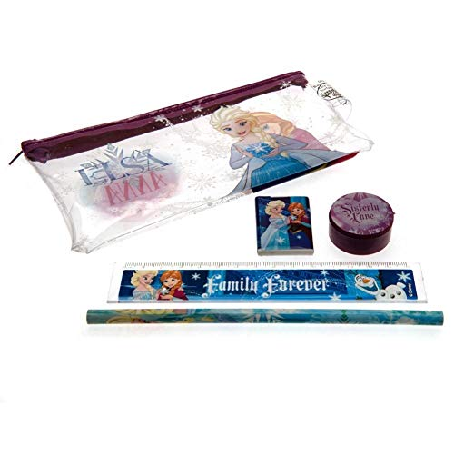 NEUF filles / ENFANTS PVC facile à nettoyer Trousse avec Ensemble de papeterie - Violet/ Transparent/ MULTI - tailles UK 1-1 - Violet/ Transparent/ Multi, 1 UK