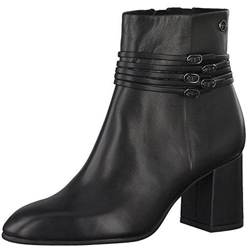 Tamaris Damen Stiefelette 25039-31,Frauen Stiefel,Boot,Halbstiefel,Damenstiefelette,Bootie,Reißverschluss,Blockabsatz 6.5cm,Black,EU 40