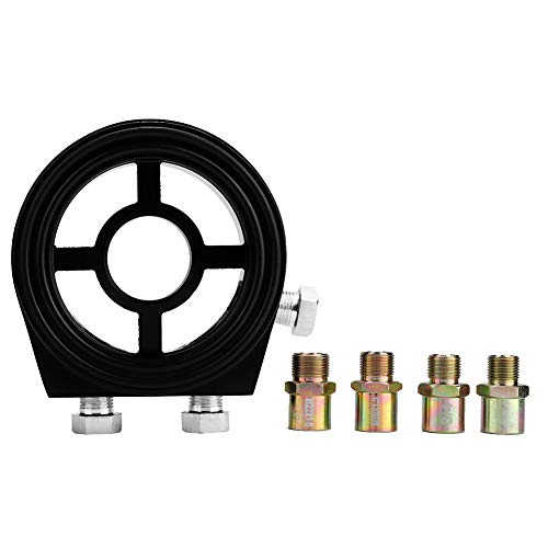 Ölfilter Adapter, Auto Aluminium Ölfilter Adapter Sandwich Kühlerplatte Ölfilter Adapter