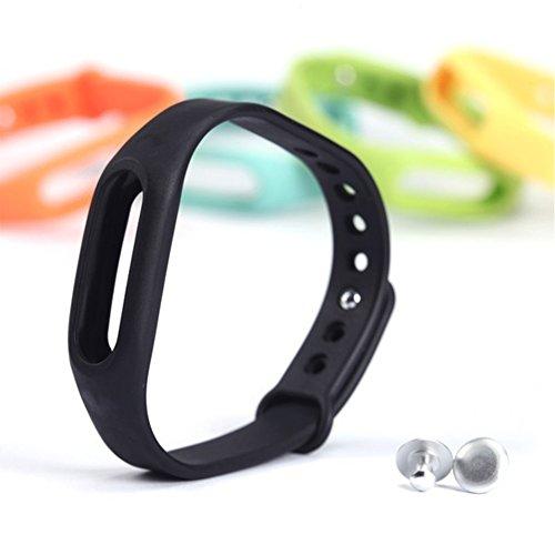 Neue Art und Weise Ersatz Armband Silikon Handgelenk Bügel für Xiaomi Mi Band Schwarz
