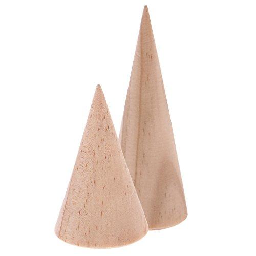 4 Stk. Kegel Form Schmuck Anzeige aus Holz Geeignet für Haken-Tropfen baumeln Ohrringe