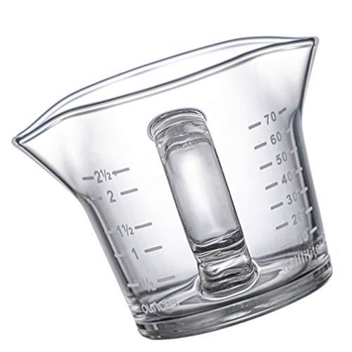 Cabilock Tazas Medidoras Jarra de Crema de Vidrio de Cristal Leche Jarra de Crema de Café con Escalas de Medición para Cocina