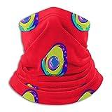 Polaina para el Cuello, Aguacate Patrón Rojo Abstracto Imprimir Polaina para el Cuello Bufanda con...