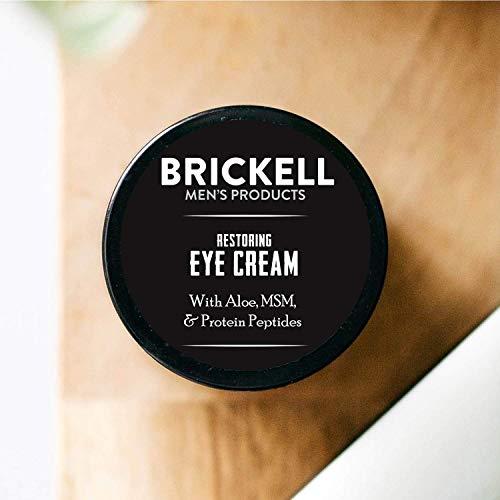 Brickell Men's Products Crème Réparatrice pour les Yeux, Naturel et Bio, Baume Anti-Âge pour les...
